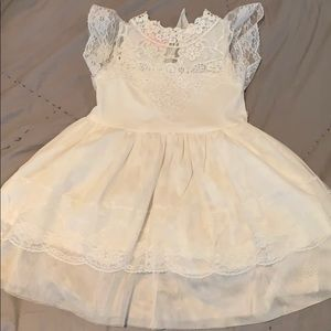 Other - Beautiful white lace girls dress fully lined.
